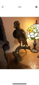 Large brass eagle statue