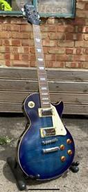 Epiphone Les Paul Standard in Blue Burst 2005, great condition with gig bag