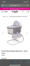 Purflo bassinet and stand