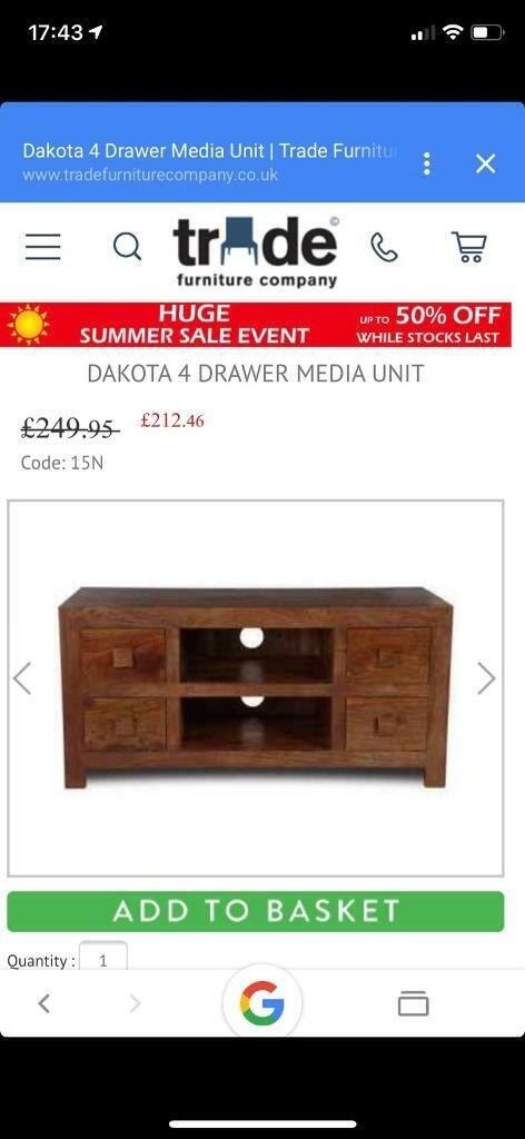 Table + 4 chairs and TV Unit | in Brightlingsea, Essex | Gumtree