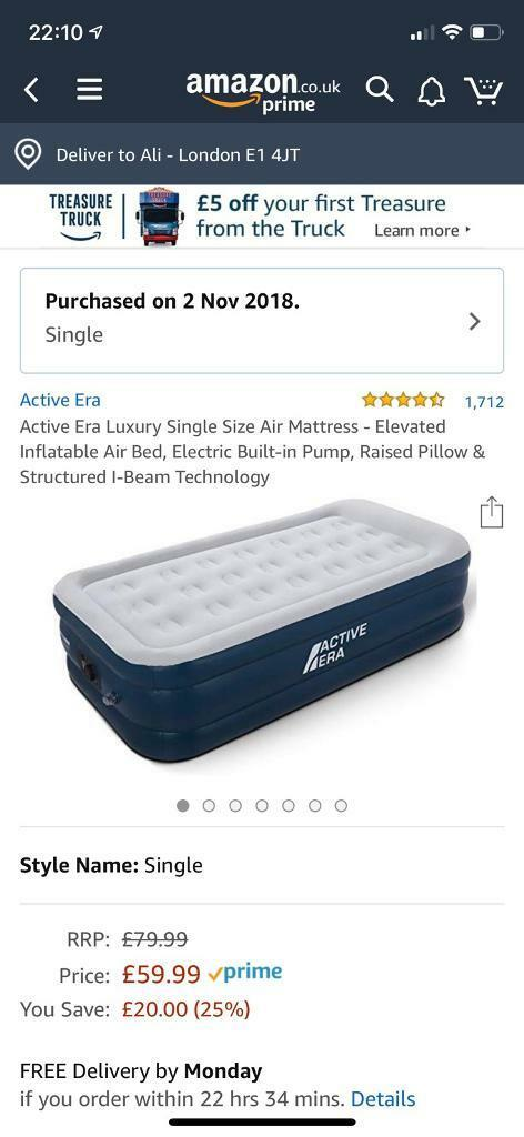 d2e9d927b22 Single Size Air Mattress - Elevated Inflatable Air Bed