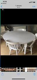 Shabby shocks table 4 chairs