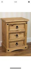 2 xbrand new wooden bedside drawers