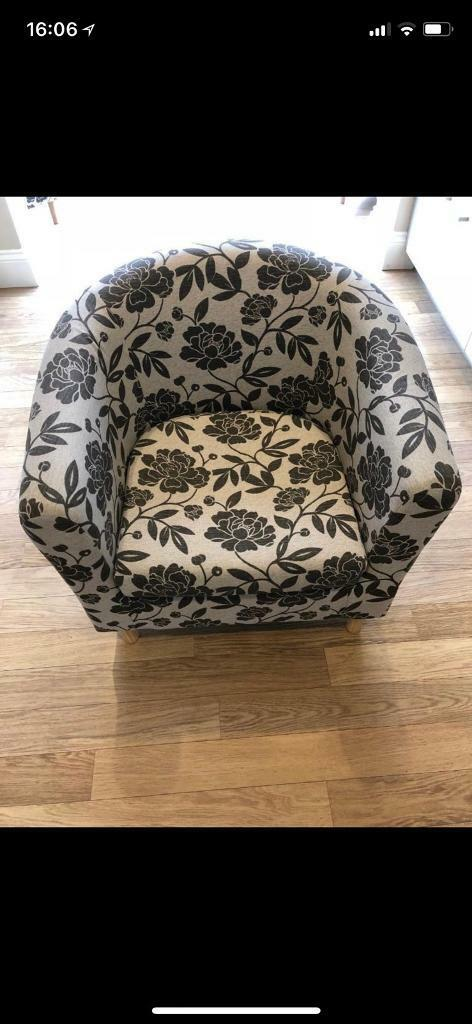 argos home floral fabric tub chair in canvey island essex gumtree