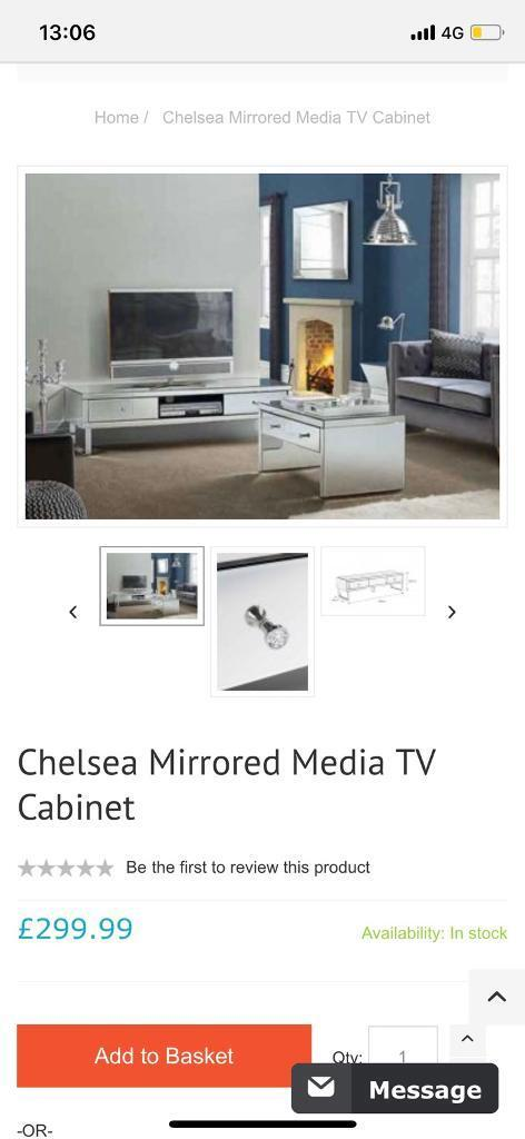 Mirrored TV cabinet