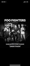 Foo Fighters ticket for Saturday 23rd!