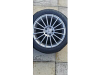 """Mercedes 18"""" Alloys with winter tyres."""