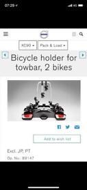 Towbar mounted bike rack