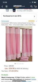 Polka dot/stripe curtains