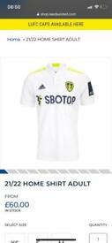 Leeds United 21/22 home shirt.