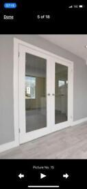 New wooden interior doors