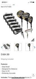 Callaway Edge 2021 men's full graphite golf set