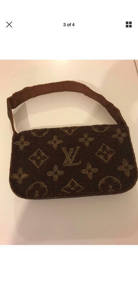 Vuitton ladies beaded bag. Sub 1980s vintage. Stunning. Still looks new! c12e26de9b52e