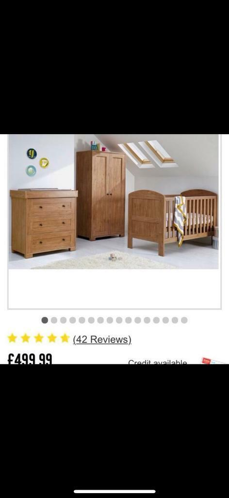sports shoes 2d3e2 fd1a2 Mamas and Papas Harrow 3 Piece Nursery Set Dark Oak With Mattress | in  Stourport-on-Severn, Worcestershire | Gumtree