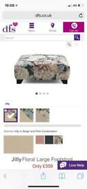 Beautiful DFS Floral Footstool - part of the 'Jilly' range