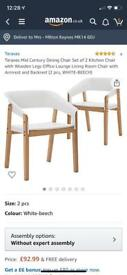 Chairs pack of 2 boxed