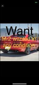 Mr2's wanted fir cash running or not any condition Huddersfield area