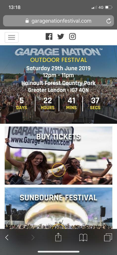 Garage Nation Festival 2 Tickets Available In Enfield London