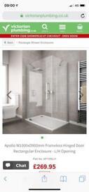 Apollo 1000x900 LH Shower enclosure
