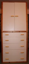 Bedroom Cupboard and 6 Draw Combination