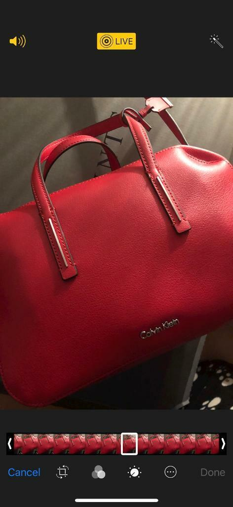 1c47af30cc0 Brand new Calvin Klein duffle bag red new with tags and dust bag last  season rrp£125