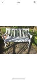 Vintage Heavy Solid Teak Wood Garden Bench 123cm length x 60cm depth x 87cm high. Can deliver