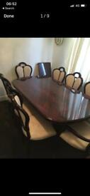 Italian Dining Table & 8 Chairs
