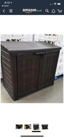 Keter large brown bin storage