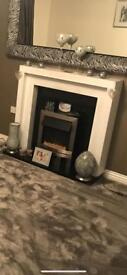 fire place white surround