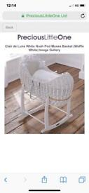 Next wicker Moses basket with stand