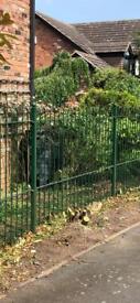 Secure iron fence