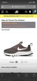 Nike presto khaki size 2.5 junior