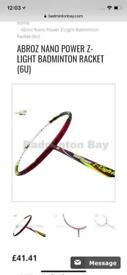 Brand new badminton racquet ABROZ NANO POWER Z-LIGHT BADMINTON RACKET (6U)