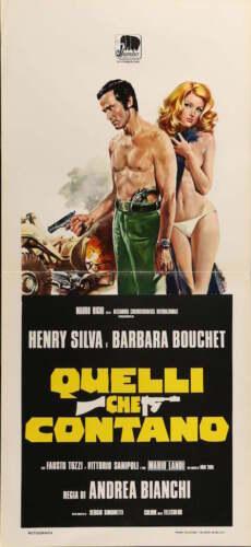 CRY OF A PROSTITUTE Italian locandina movie poster 13x29 BARBARA BOUCHET 1974