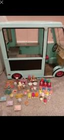 Our generation icecream truck, dolls and clothes