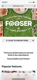 Business for sale. Online restaurant and cafe director for the Lake District