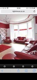 Large sofa and 2 seater and 1chair