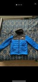 North Face Reversible Blue and Black Jacket