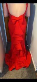 Pia Michi London Red Prom Dress