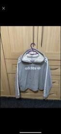Adidas cropped hoodie, size 10