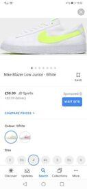 Brand New, Still in Box Nike Blazers size 4