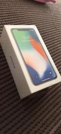 iPhone X 64gb Silver Brand New Sealed