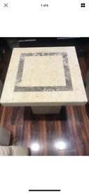 Three Real Marble Coffee Tables Originally From DFS