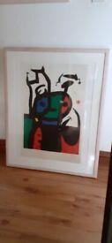 Striking framed Miro print