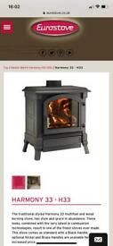 Wood burning stove Harmony H33 Eurostove
