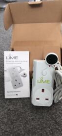 Lime Energy Saving Plug