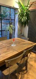 Dining Table and 8 wood and metal dining chairs