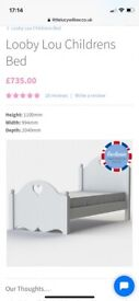 Sold white wooden single bed
