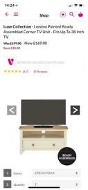 White Wood TV Unit