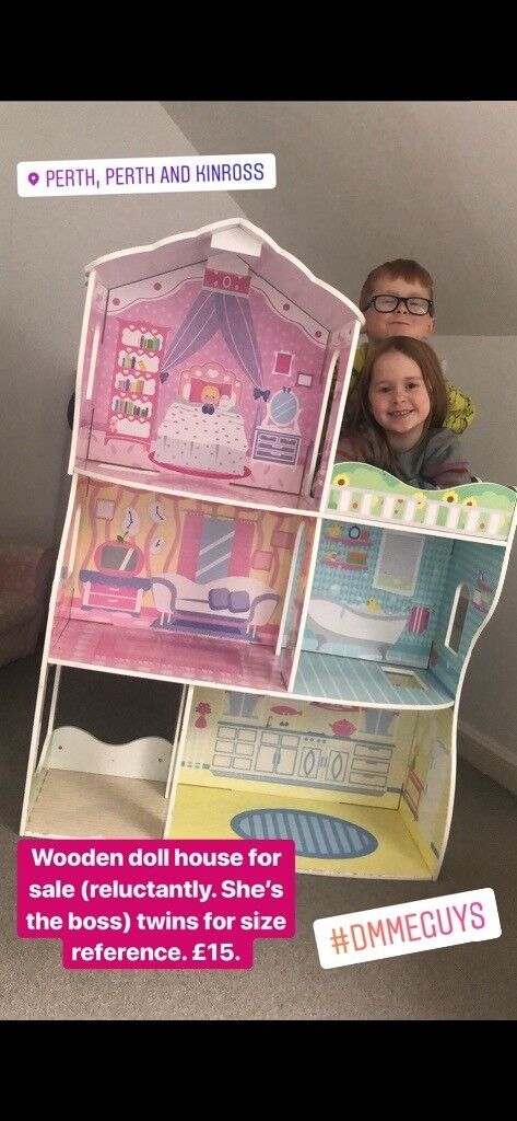 Large Wooden Doll House In Perth Perth And Kinross Gumtree